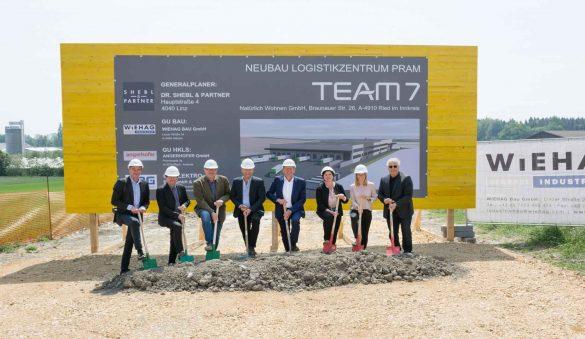 Spatenstich Logistikzentrum TEAM 7