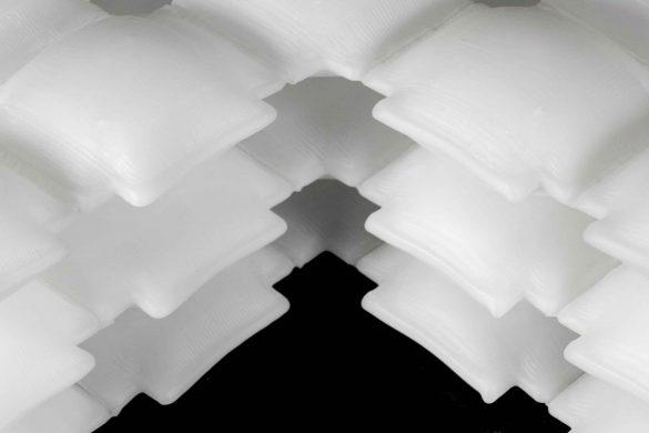 3D-gedrucktes, aufblasbares Material