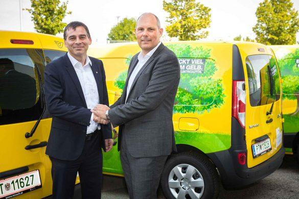 Renault Österreich liefert 249 rein elektrische Kangoo Z.E. an die Österreichische Post AG