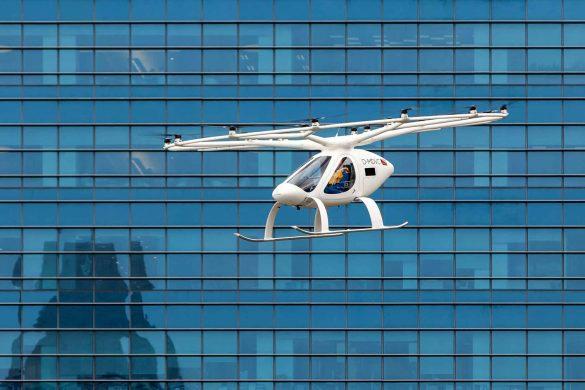 Volocopter absolviert innerstädtischen Flug