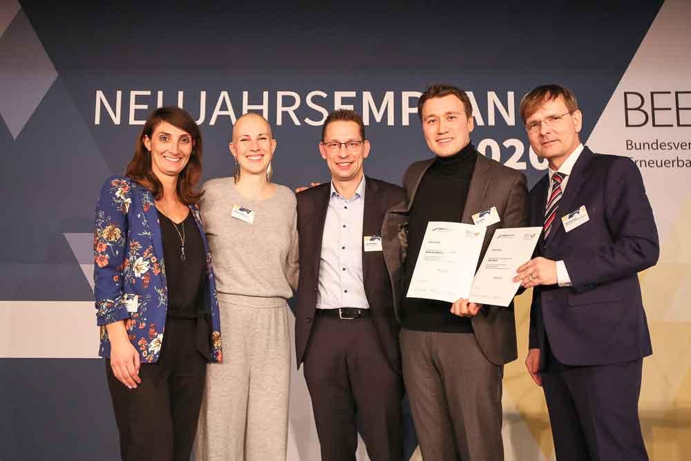Poligy gewinnt BBE Energiewende-Newcomer 2020 Award