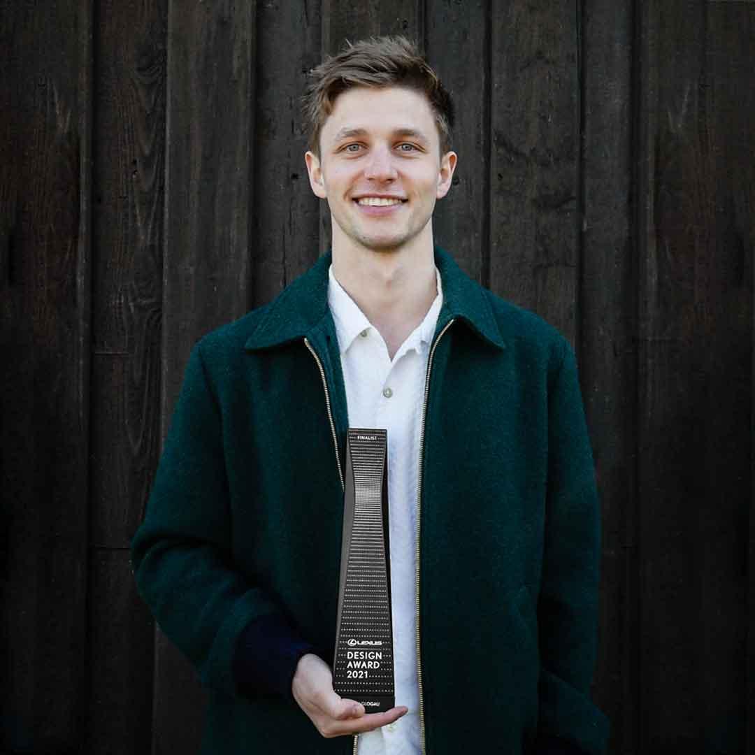 Henry Glogau gewinnt den Lexus Design Award 2021.