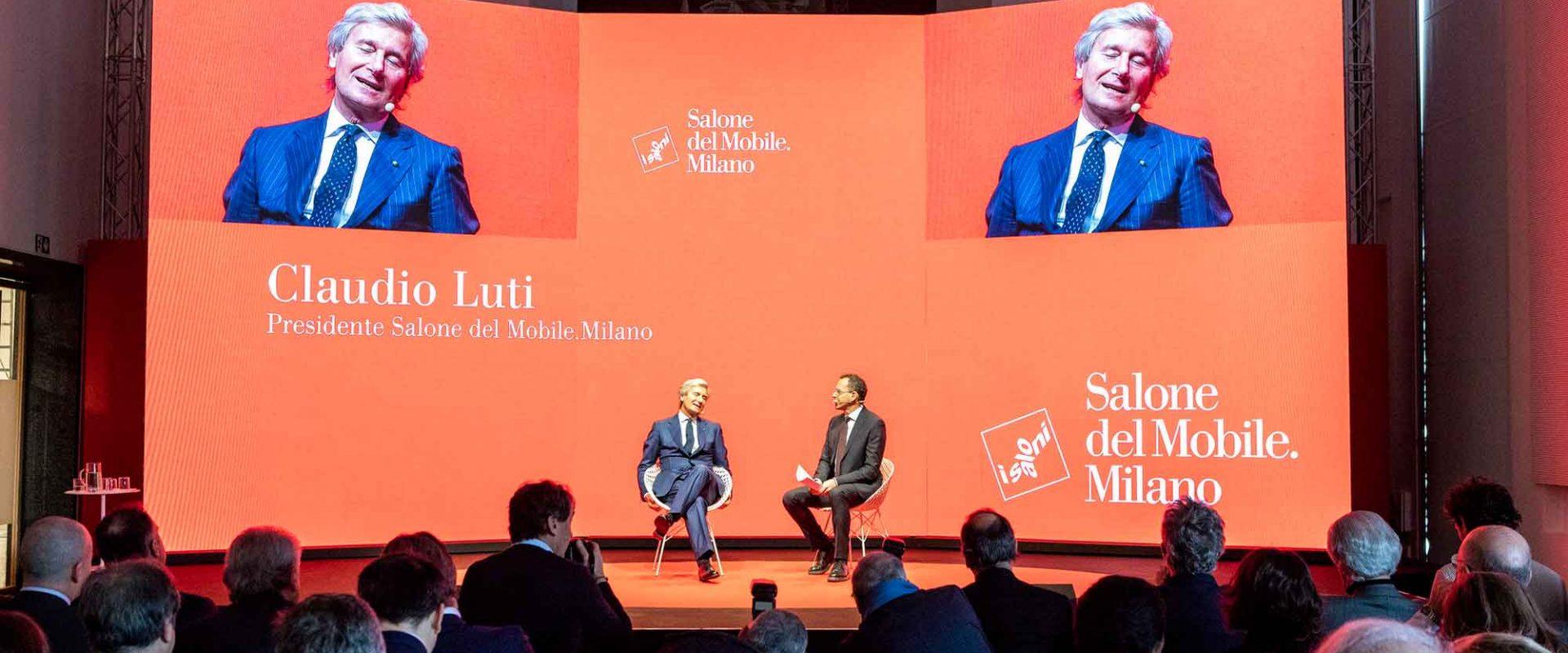Claudio Luti, Salone, Pressc. 2019