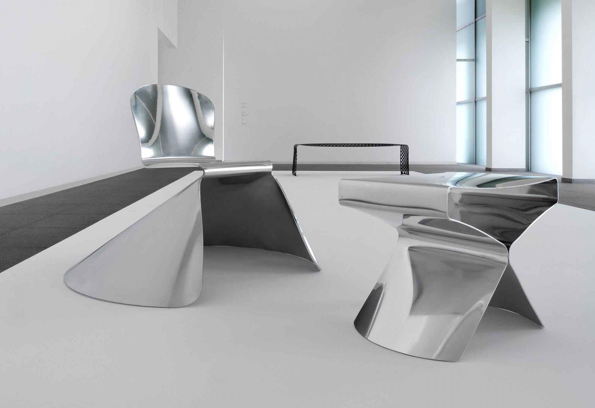 Archiduchaise Chair mit XST-Hocker, Xavier Lust