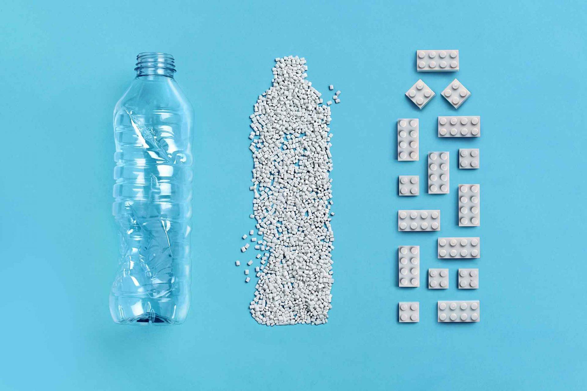 Legostein aus PET-Flaschen