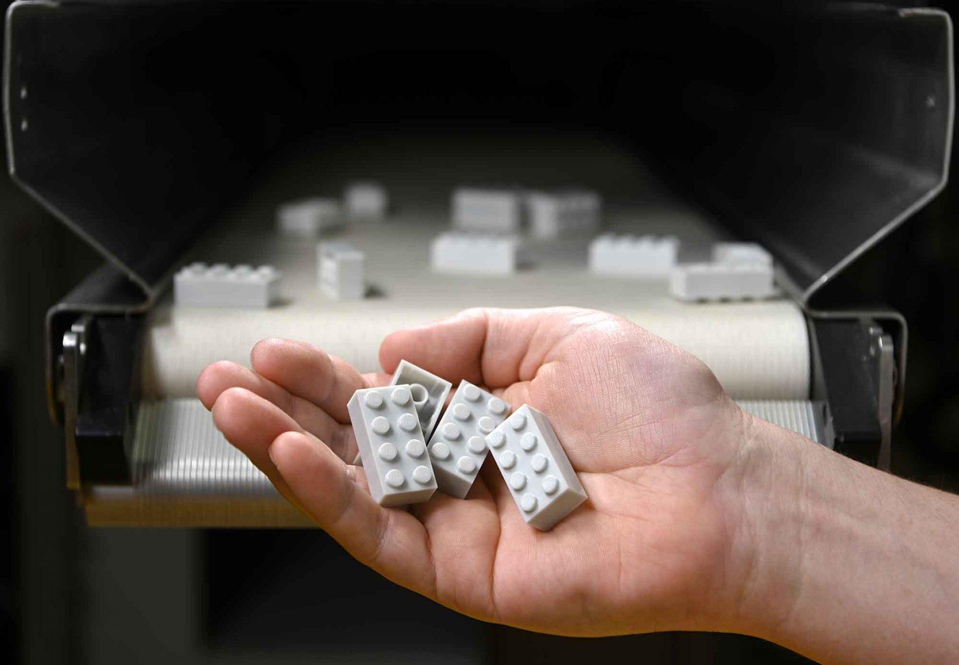 Legosteine aus PET-Flaschen